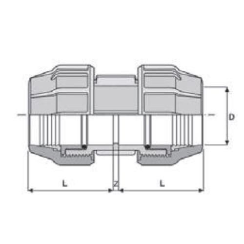Ordentlich PP-Klemmverbinder für PE Rohre, Kupplung egal   Kwerk Online Shop TW25