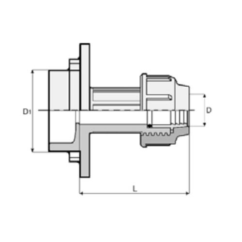 Brandneu PP-Klemmverbinder für PE Rohre, Steckreduzierung | Kwerk Online Shop IM49