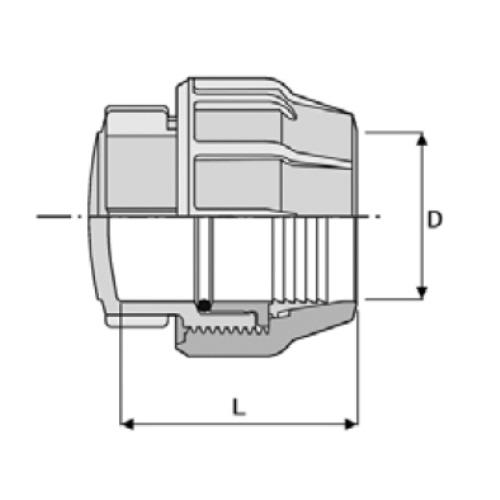 Großartig PP-Klemmverbinder für PE Rohre, Endkappe | Kwerk Online Shop AR87